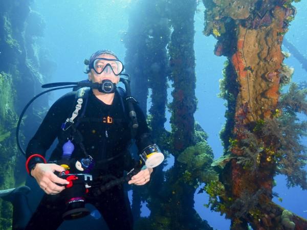 Debbie at Gosei Maru, Truk Lagoon by Jetty Dive