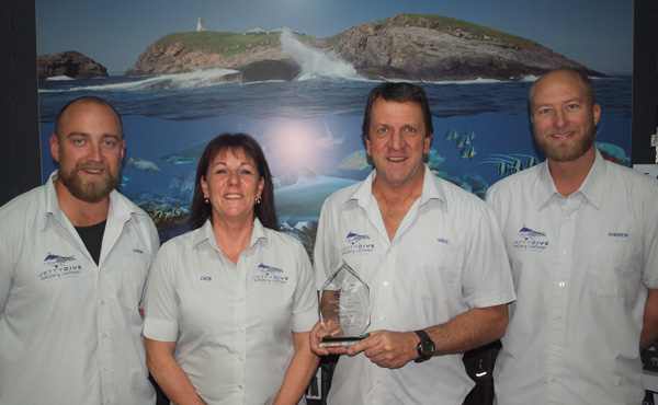 Jetty Dive Centre receive's Award of Excellence