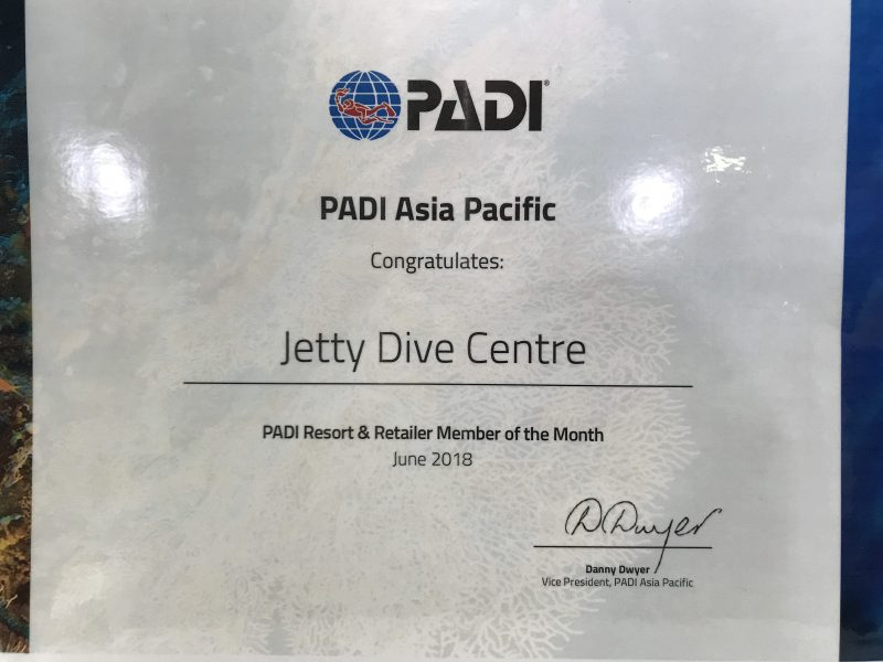 Jetty Dive Centre Award